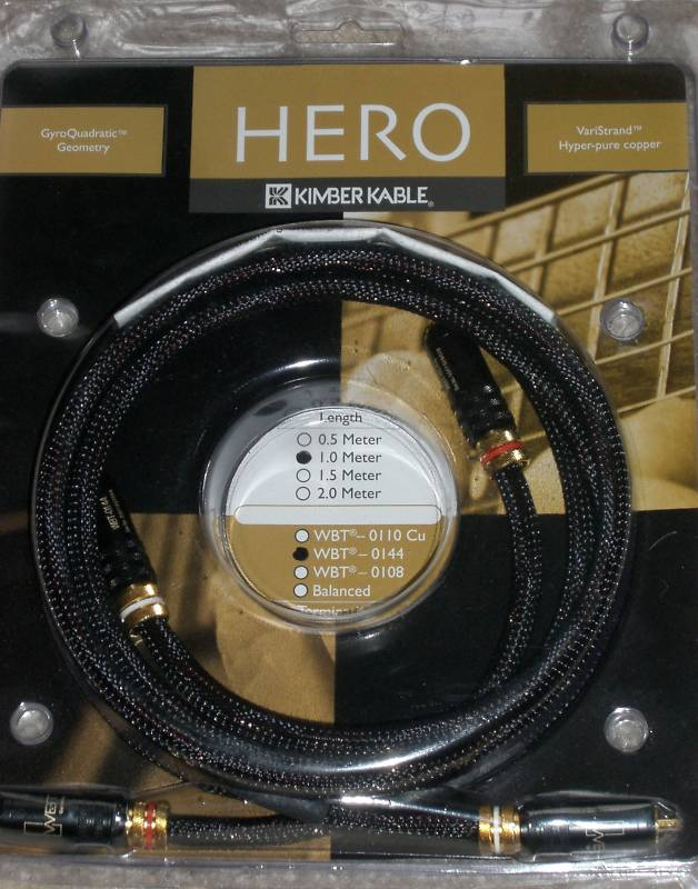 Hero Interconnect with WBT 0144's 1metre pair